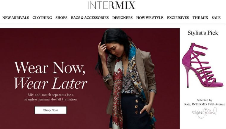Intermix online shop!