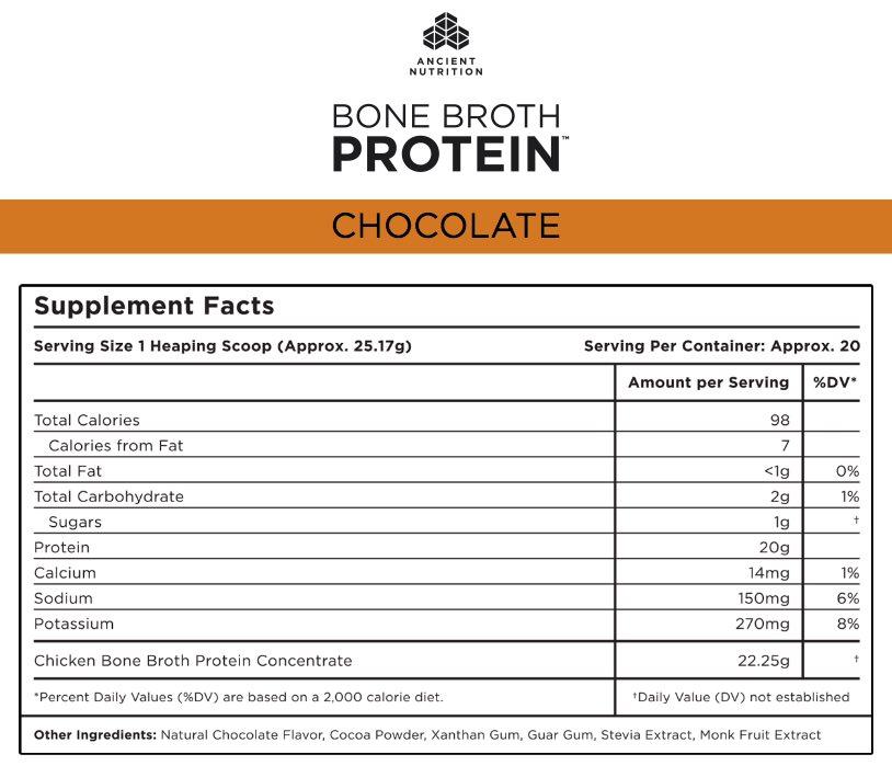 Bone Broth Supplement Facts