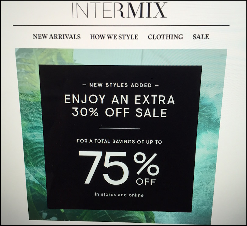 Intermix has amazing sales!