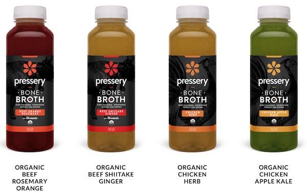 Pressery liquid bone broth flavors