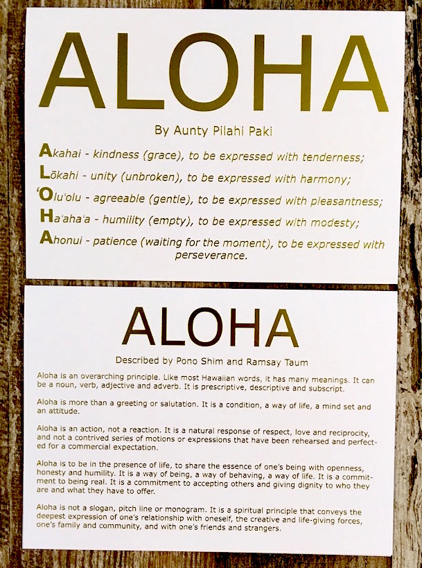 Meaning of Aloha card