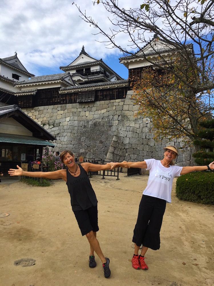 Ru and Tania in Japan.